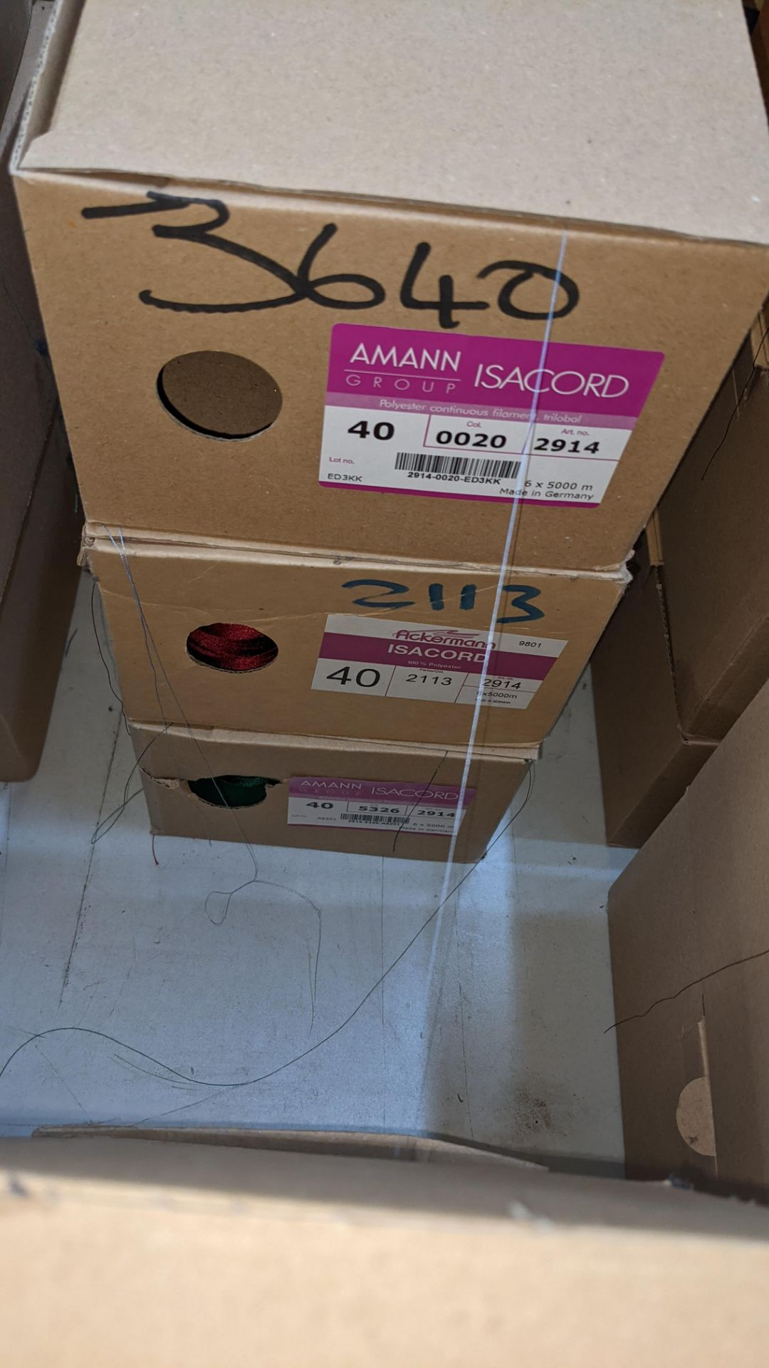 12 boxes of Ackermann Isacord (40) polyester thread - Image 4 of 6