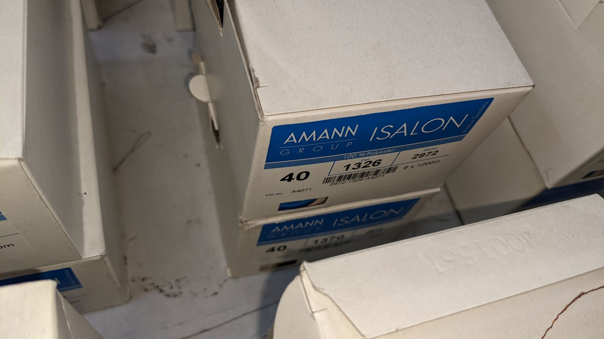 12 boxes of Amann Group ISALON 40 polyester embroidery thread - Image 8 of 11