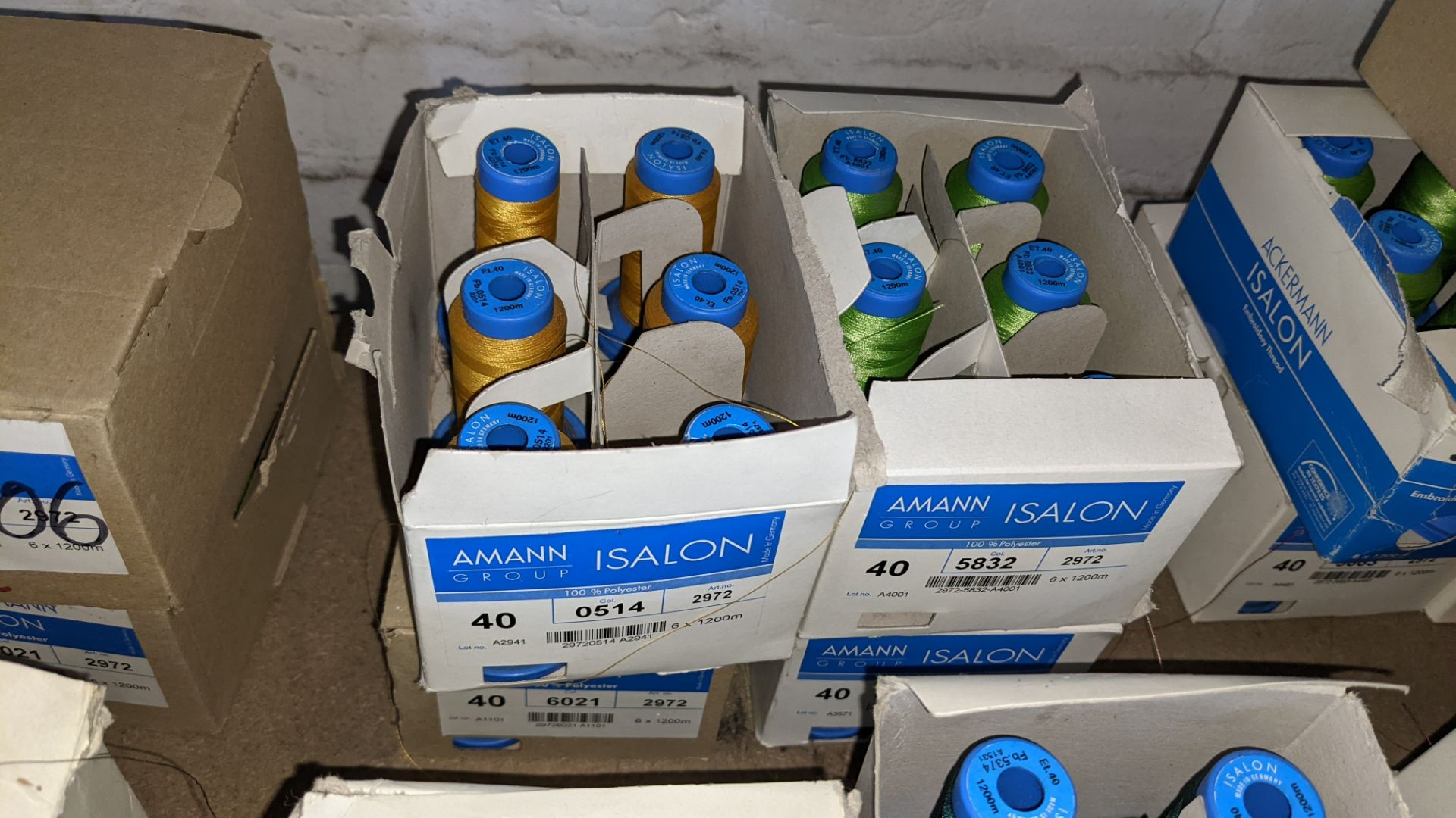 12 boxes of Amann Group ISALON embroidery thread - Image 5 of 6