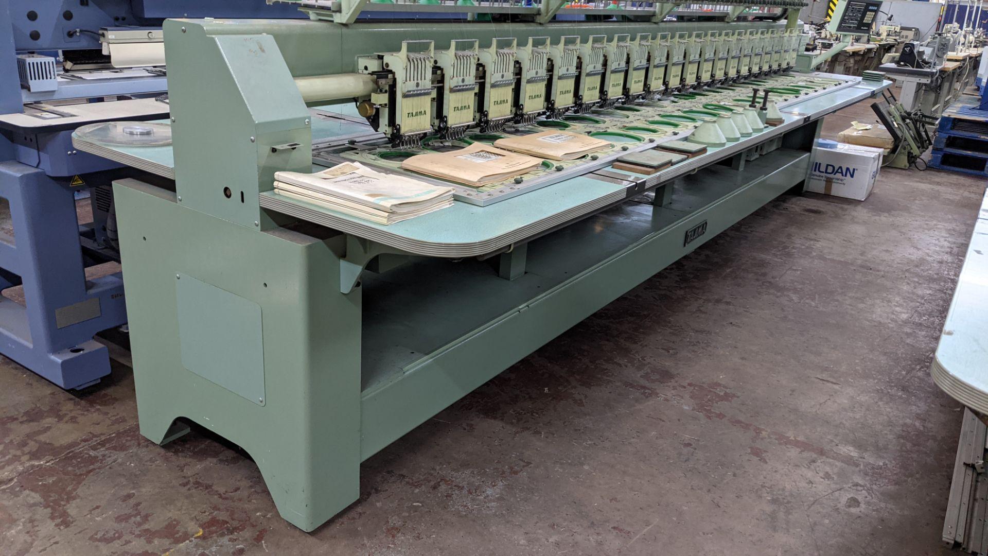Tokai Tajima electronic 20 head automatic embroidery machine model TMEF-H620 - Image 14 of 25