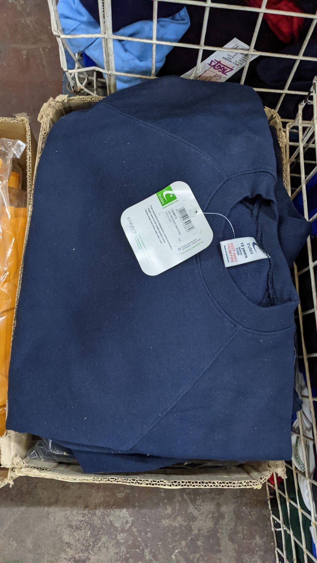 Approx 16 off assorted navy Trutex children's sweatshirts - Image 2 of 4