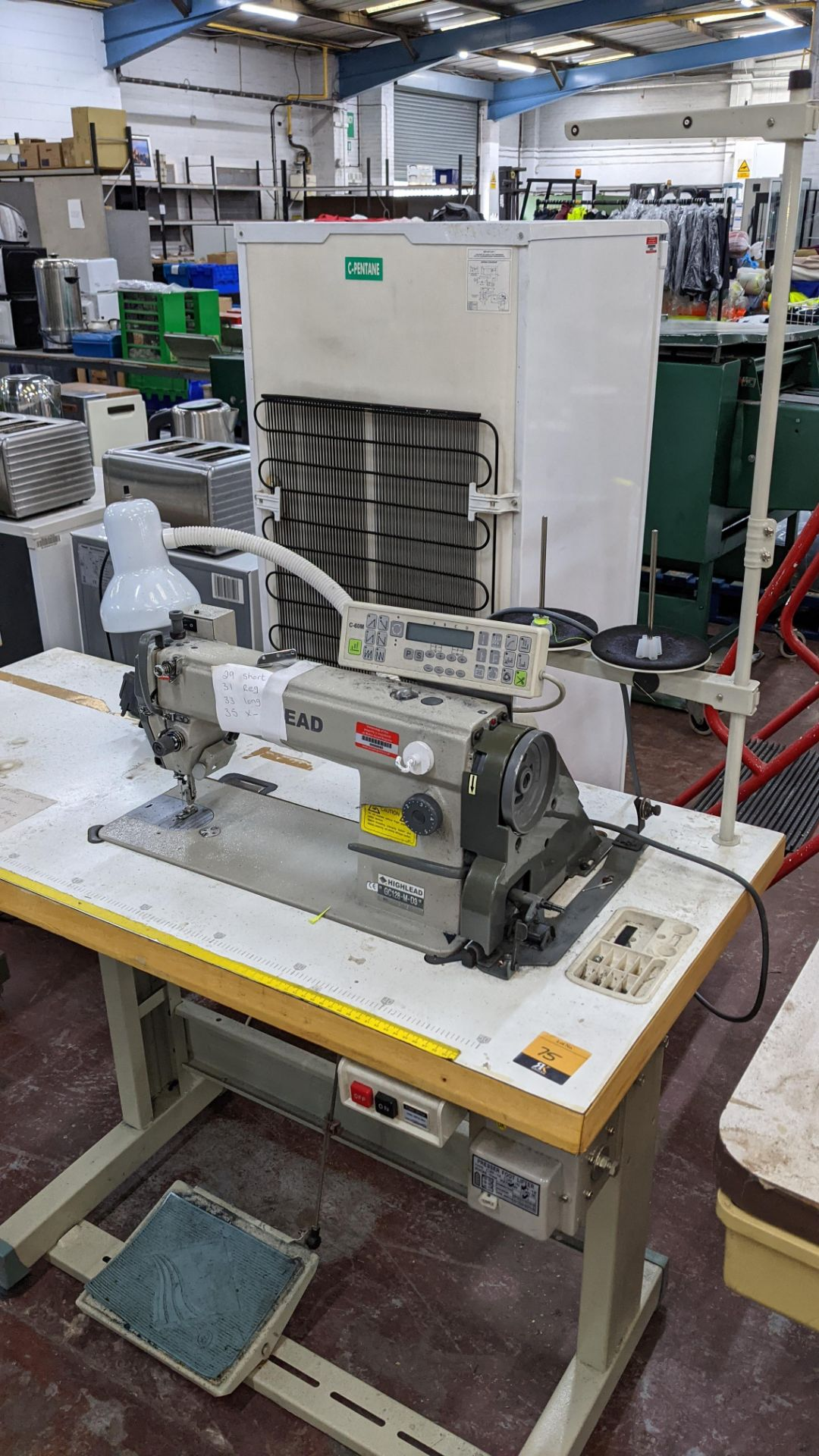 Highlead model GC128-M-D3 sewing machine with model C-60M digital controller - Image 3 of 17