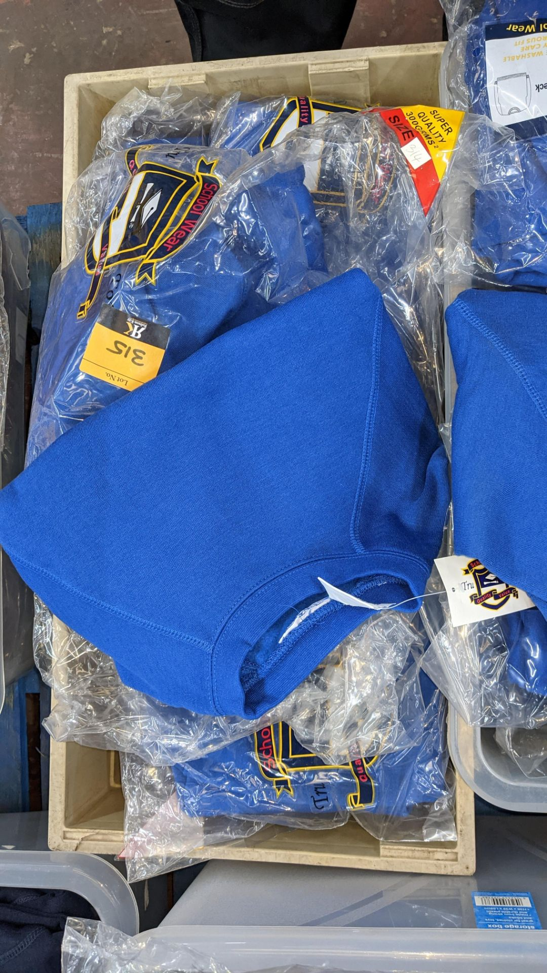 Approx 17 off blue children's sweatshirts & similar - the contents of 1 crate. NB crate excluded - Image 5 of 6