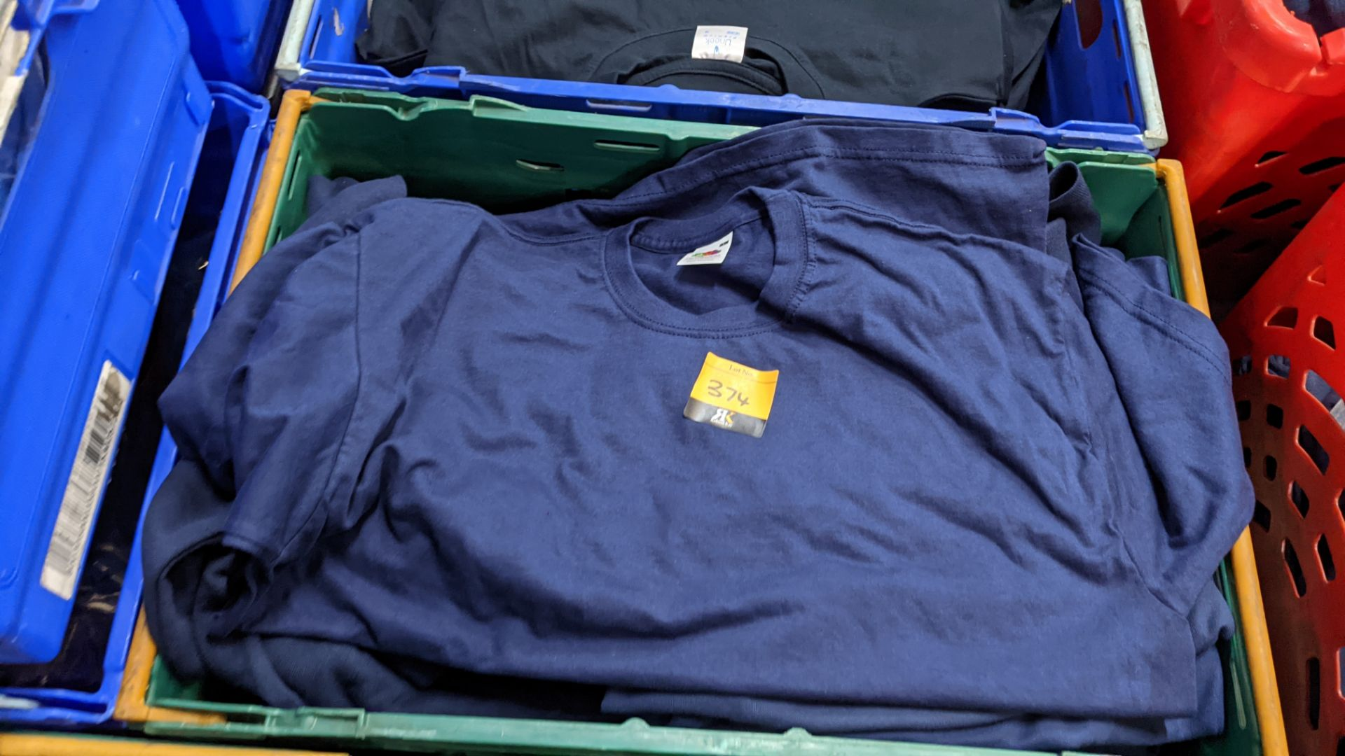 Approx 20 off assorted blue Fruit of the Loom tops comprising sweatshirts, polo shirts & t-shirts - Image 3 of 4