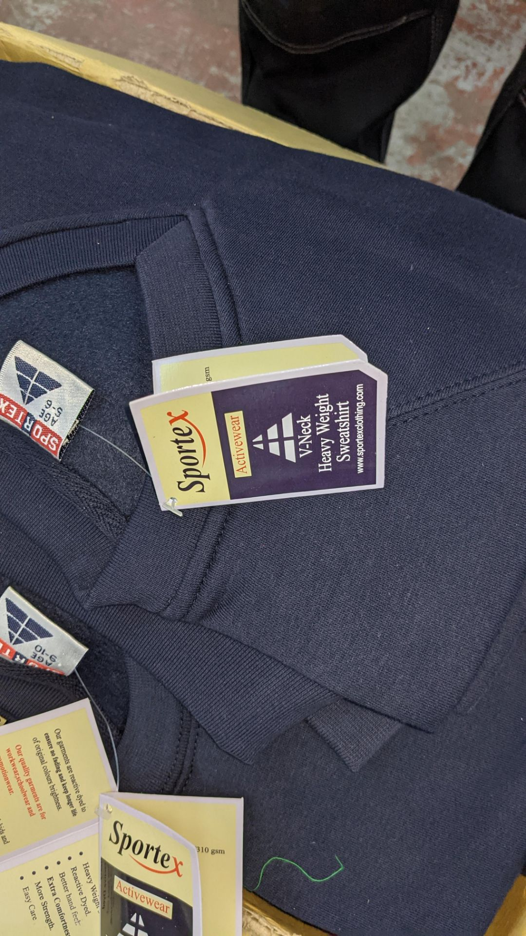 Approx 14 off Sportex children's blue V-neck sweatshirts - Image 4 of 4