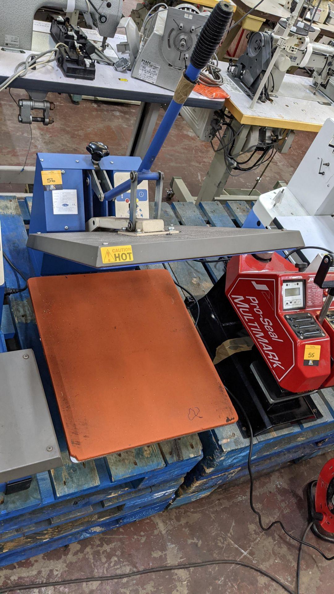 Europa Jarin benchtop heat transfer press model HF5000 - Image 6 of 13