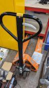 Load surfer 2500kg Euro pallet truck including EC declaration of conformity