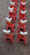 8 off Clarke STRONG-ARM 1.5 ton axle stands model CAX-3TBC