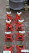 6 off Clarke STRONG-ARM 1.5 ton axle stands model CAX-3TBC