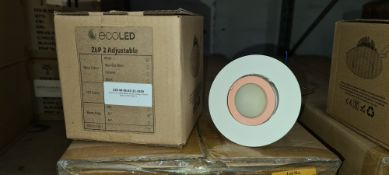 8 off EcoLED ZEP2 adjustable white spots, 5600K, model Z2E-W-56-65-32-1050 - one box. Please note,