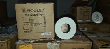 10 off EcoLED ZEP2 Darklight downlights, model Z2-D-W-13-30-80-45-1050