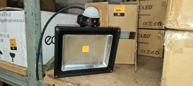 3 off EcoLED floodlights with built-in sensors. Item ZIP30WWWPIR, 36W LED PIR floodlights