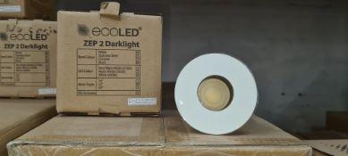 21 off EcoLED ZEP2 Darklight white downlights model Z2-D-W-10-40-80-45-D4 - 2 boxes