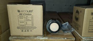9 off EcoLED trimless ZEP2 downlights, 2700K, model Z2T-B-27-90-32-500