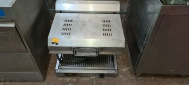 Roller Grill stainless steel countertop adjustable height salamander grill system