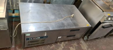 Williams stainless steel mobile low height refrigerated cabinet