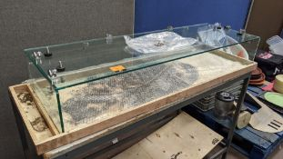 Glass panels & fixings to form countertop display unit