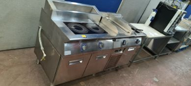 Electolux XP900 Professional Cooking Range comprising Double Induction Hob, bespoke refrigerated del