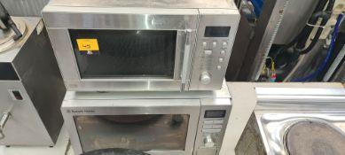 Pair of silver microwaves