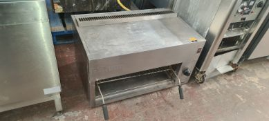Falcon stainless steel large salamander grill system approx. 900mm wide