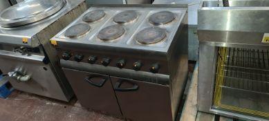 Lincat stainless steel electric 6-ring oven model ESLR9C