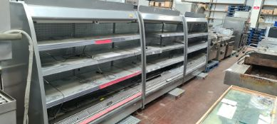 3 off open front refrigerated dairy cabinets, each being approx. 1500mm wide