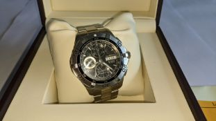 Tag Heuer Aquaracer Calibre 16 chronograph stainless steel men's wristwatch, 300m/1,000ft, automatic