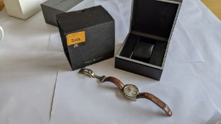 Maurice Lacroix watch with large display back marked PT7558 on the rear. Water resistant 50M. RRP £