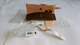 Cluse watch on leather strap including pouch. 3 ATM water resistant. RRP £89