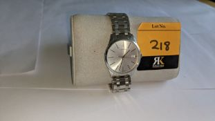 Calvin Klein gent's watch in stainless steel with sapphire crystal face, water resistant 3 bar, prod
