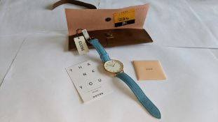 Cluse watch on leather strap including pouch. 3 ATM water resistant. RRP £79