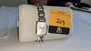 Calvin Klein ladies watch in stainless steel, water resistant 3 bar. Product code K5D2L1. RRP £195.