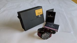 Oxygen stainless steel watch on leather strap, model DVR44, luminous, 100m water resistant, Moby Dic