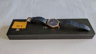 TW Steel watch in stainless steel with gold finish, sapphire crystal, leather strap etc. Water resis