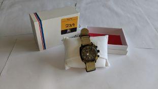 Briston Club Master watch on fabric strap including Briston box. Water resistant 100M. RRP £245