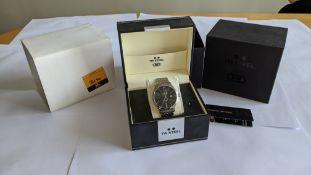 TW Steel wristwatch in stainless steel on stainless steel bracelet. Water resistant 50M. Model TW130