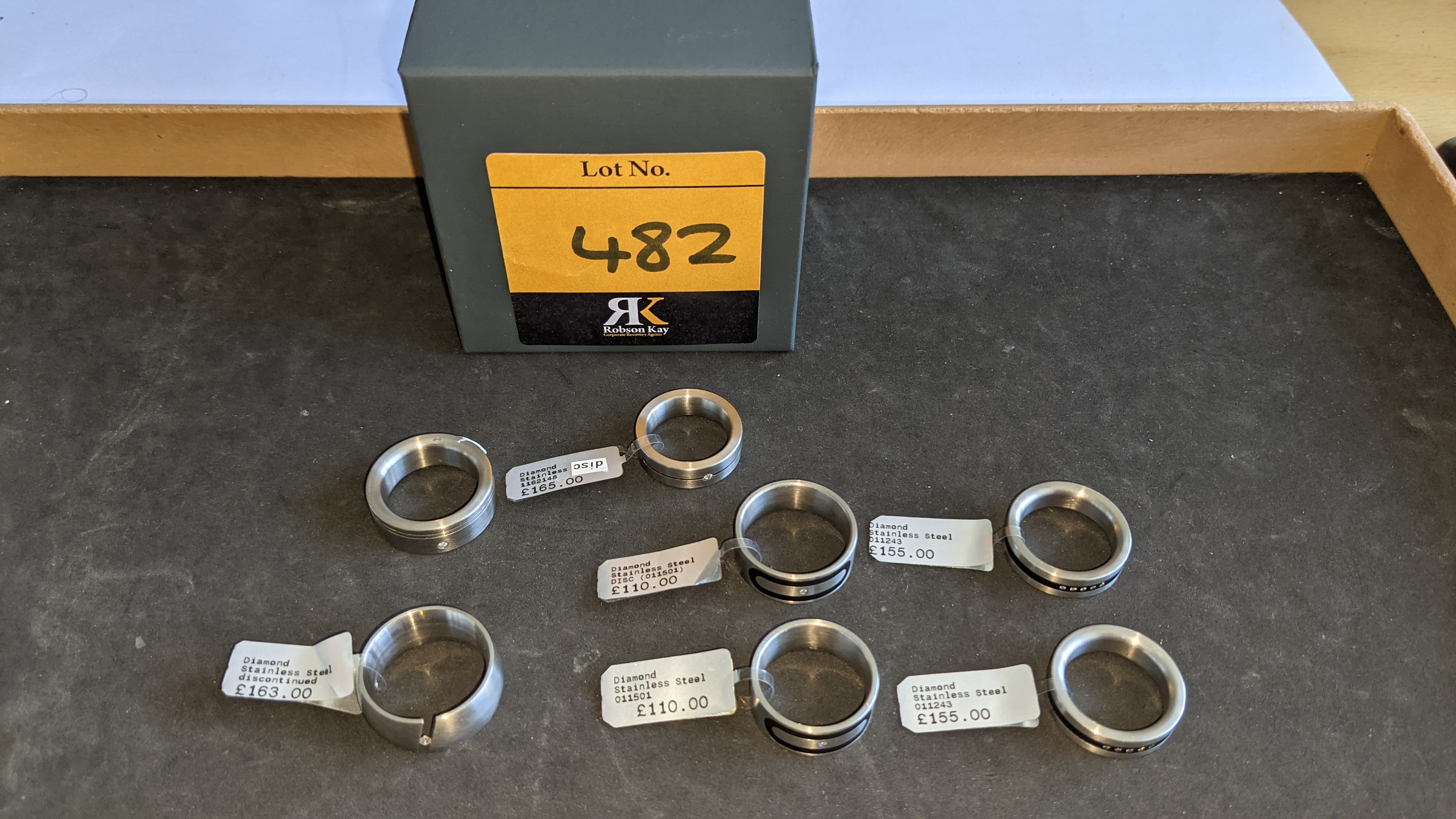 7 off assorted stainless steel & diamond rings. RRPs from £110 - £170. Total RRP £1,028 - Image 3 of 12
