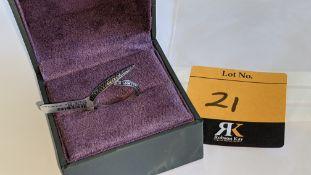18ct white gold & black diamond ring in modern design. RRP £2,100