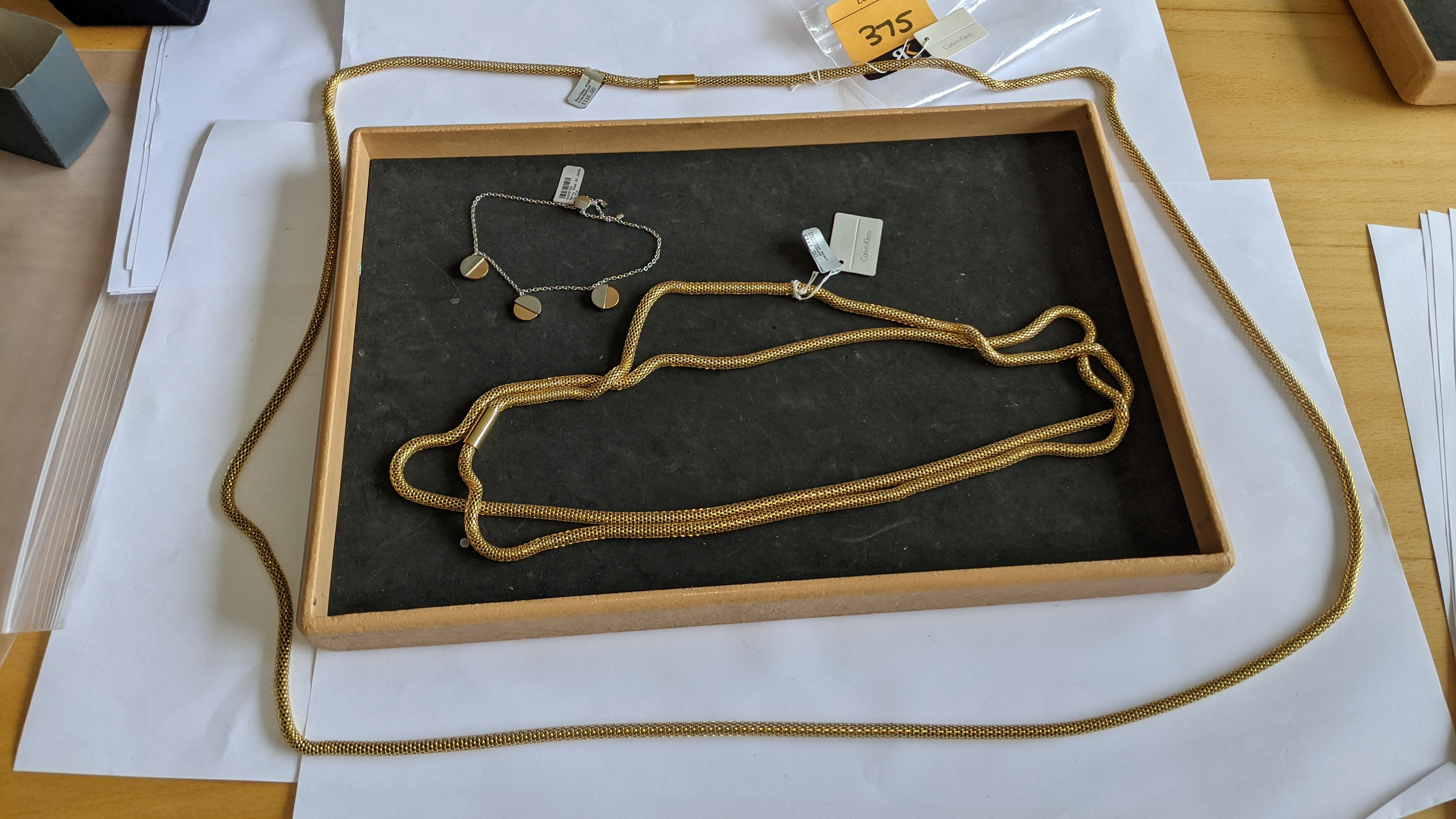 3 pieces of Calvin Klein jewellery comprising 2 off long necklaces each with an RRP of £115 plus two - Image 2 of 13
