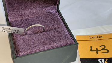 18ct white gold & diamond eternity ring with 0.33ct of diamonds. RRP £1,295