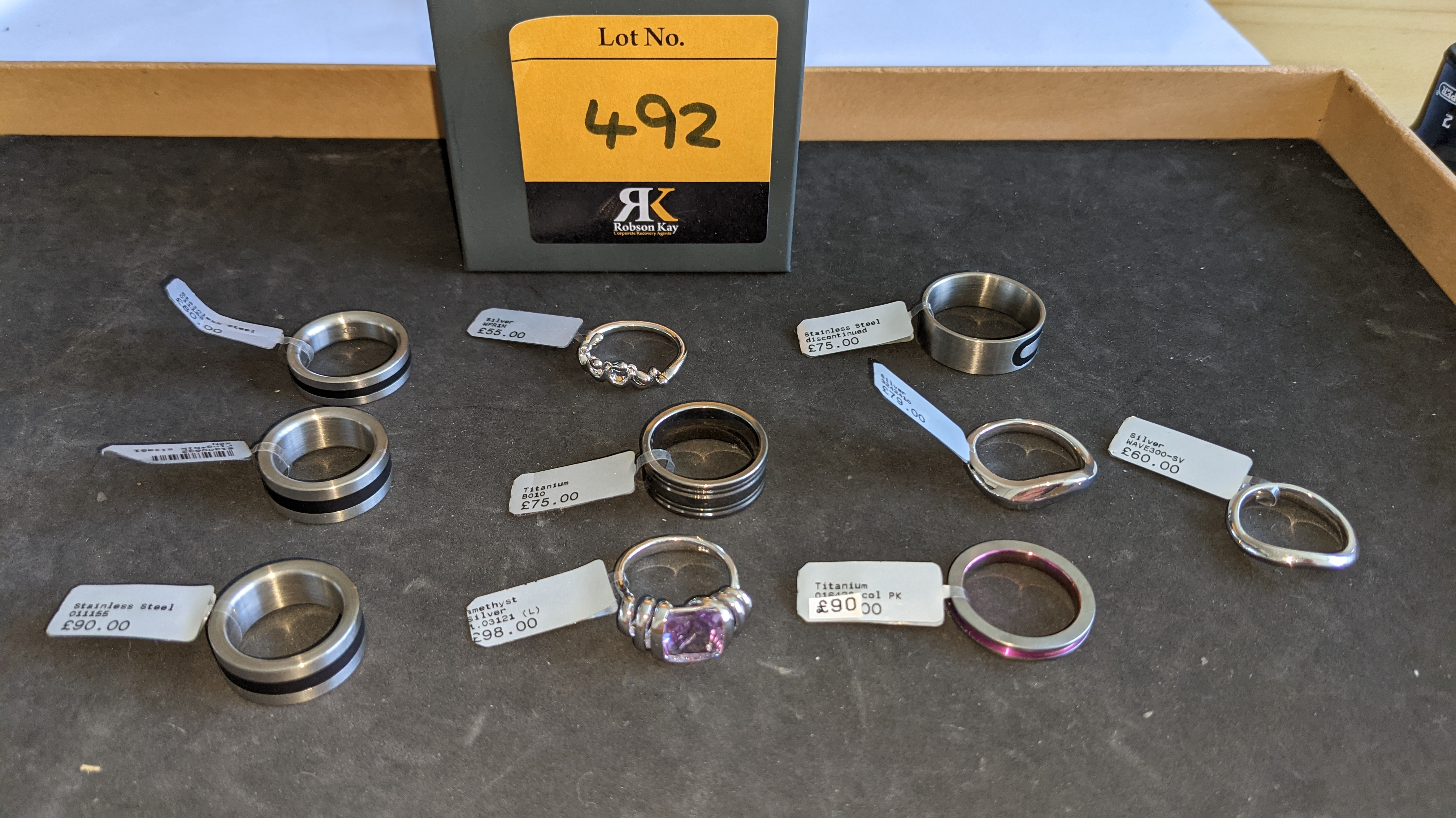 10 off assorted rings in a variety of styles, colours & finishes with RRPs from £55 - £98 per ring.