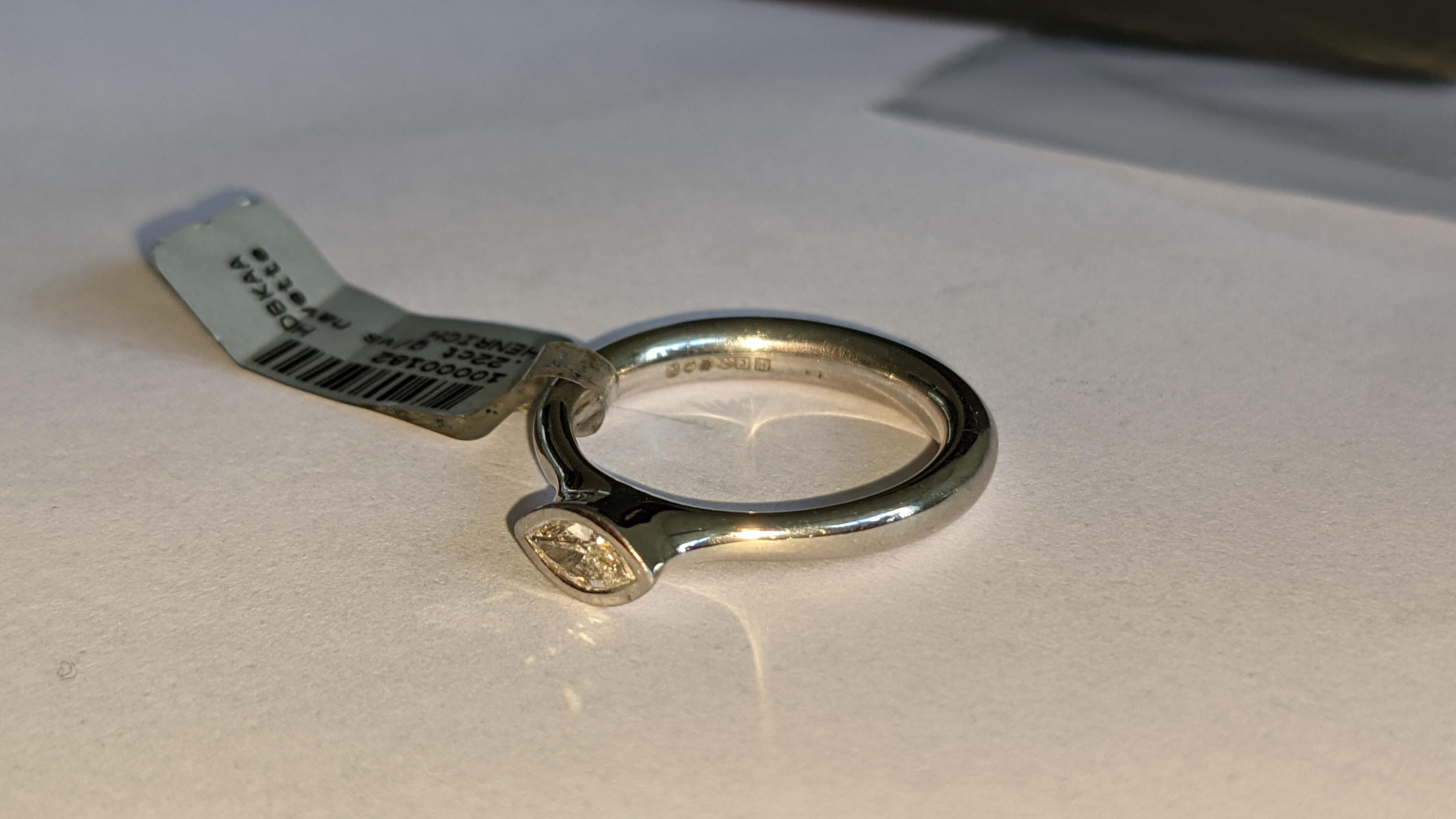 Platinum 950 & diamond ring with 0.22ct of G/VS diamond. RRP £2,502 - Image 8 of 14