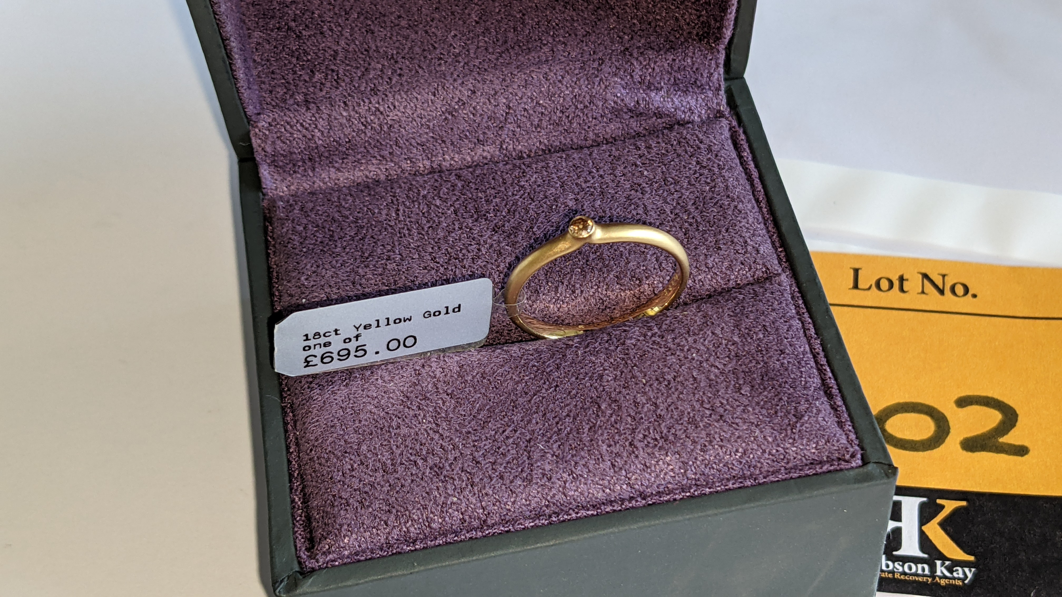 18ct yellow gold & champagne diamond ring RRP £695 - Image 14 of 14