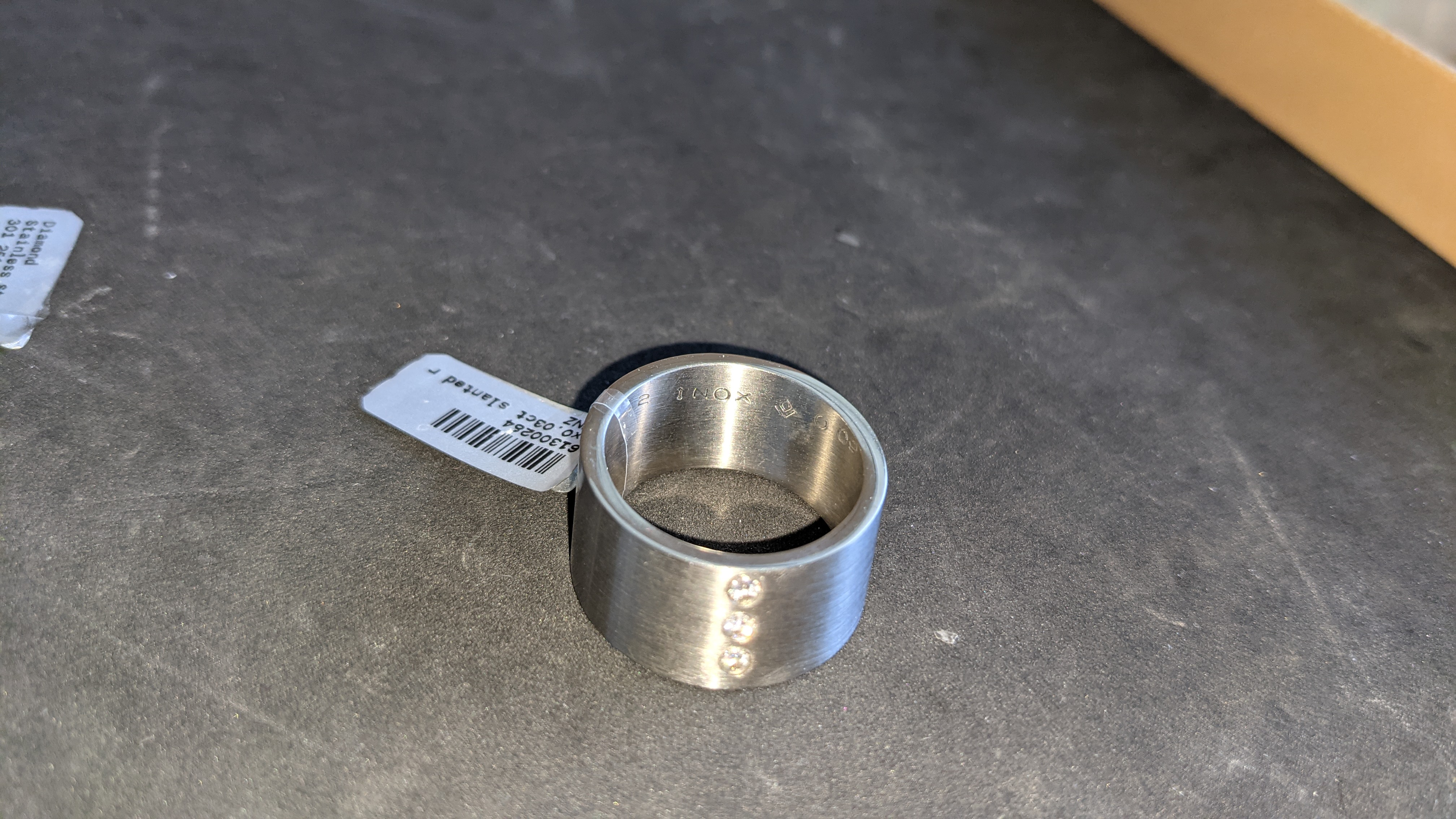 3 off assorted stainless steel & diamond rings with RRPs of £360, £378 & £379. Total RRP £1,117 - Image 6 of 14