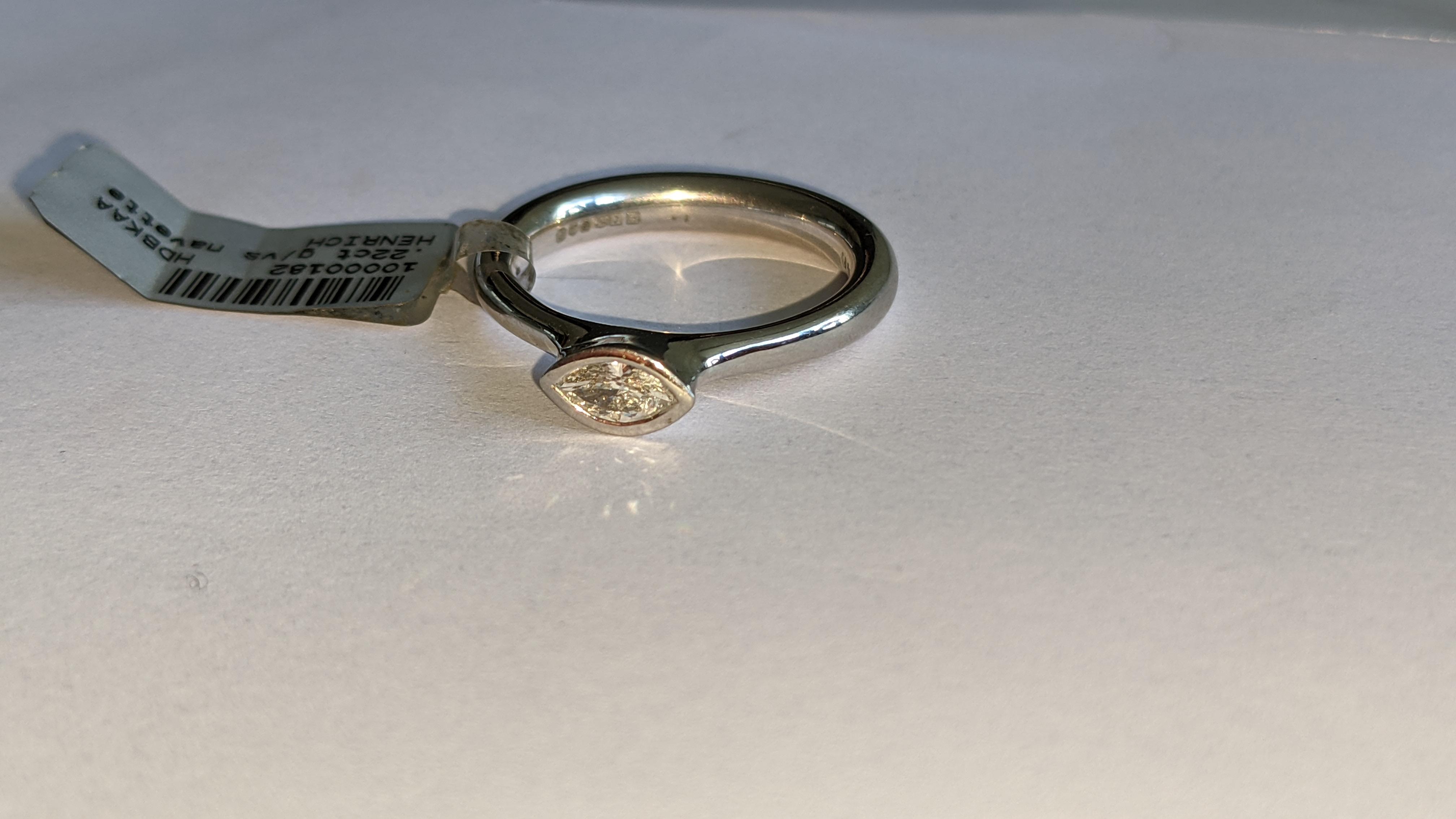 Platinum 950 & diamond ring with 0.22ct of G/VS diamond. RRP £2,502 - Image 7 of 14