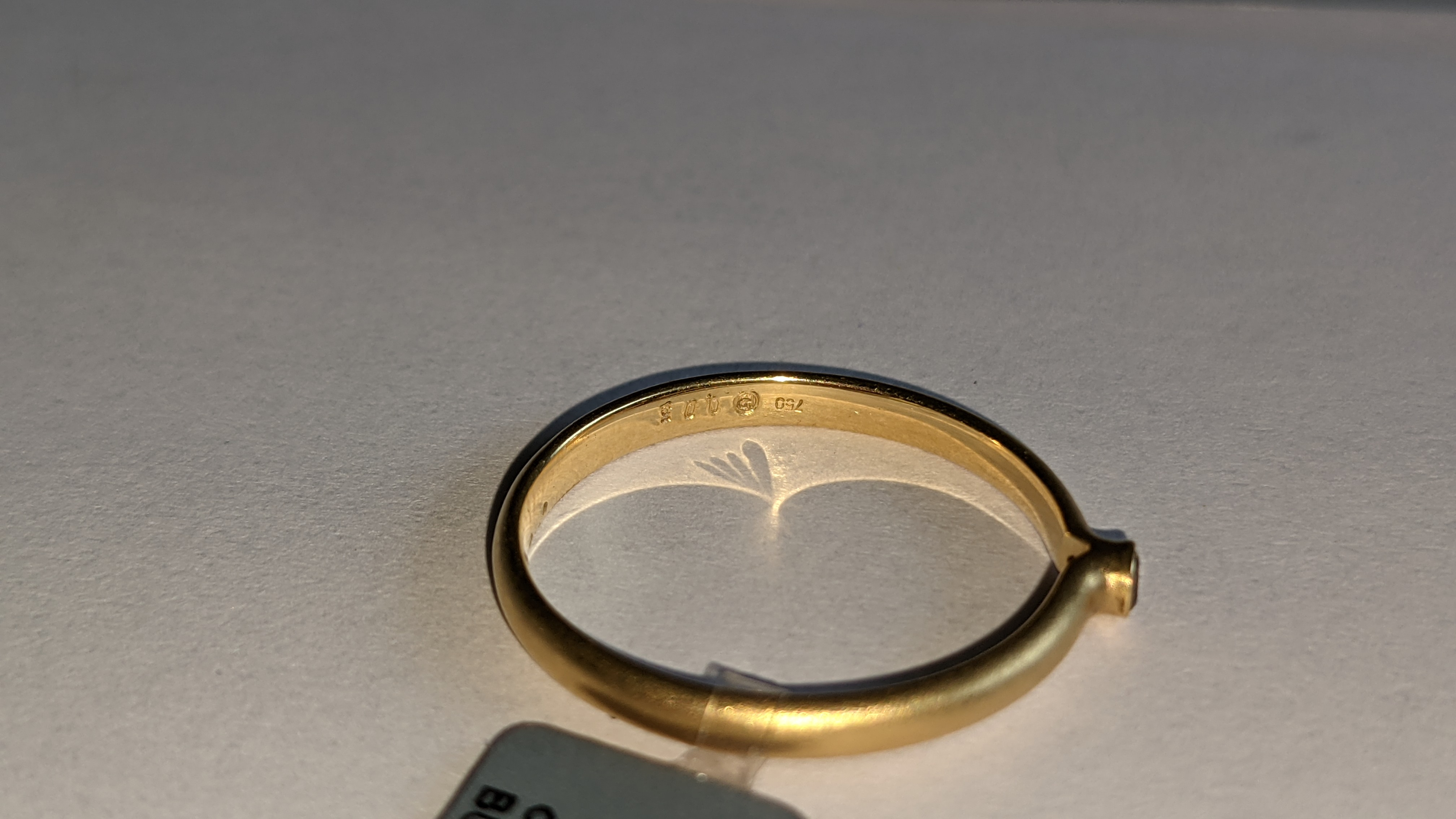 18ct yellow gold & champagne diamond ring RRP £695 - Image 7 of 14