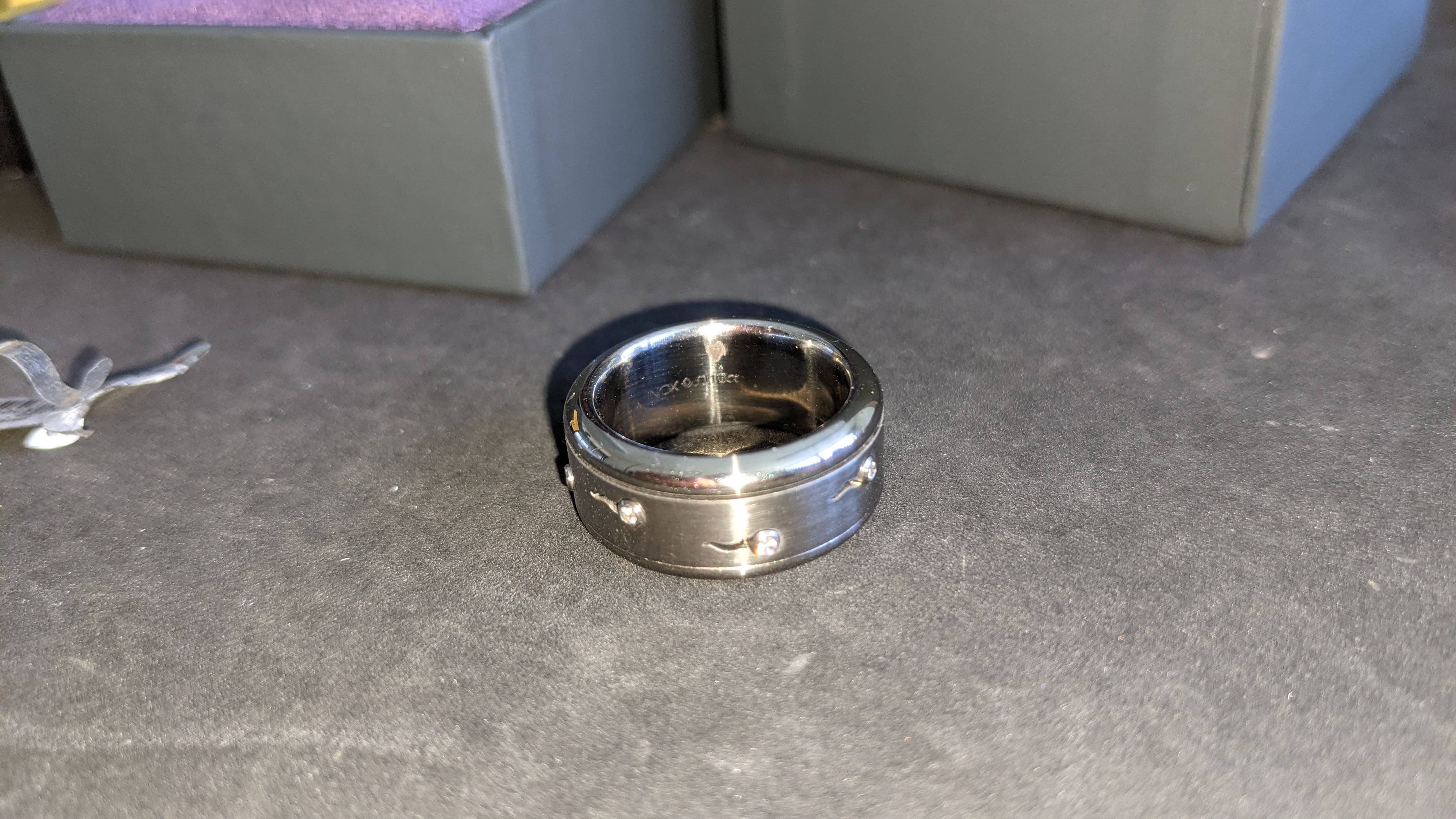 Stainless steel & diamond spin ring RRP £455 - Image 10 of 13