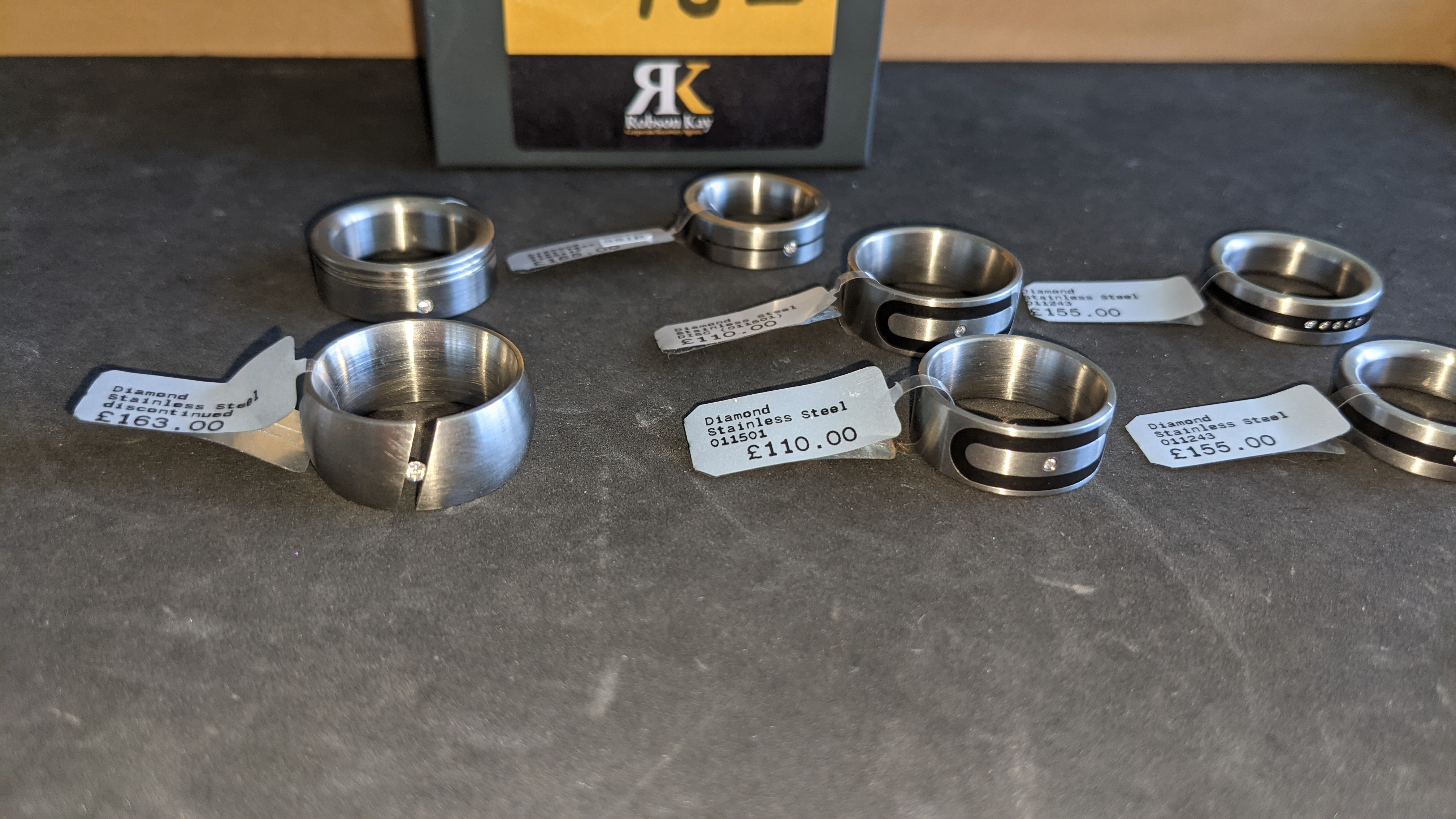 7 off assorted stainless steel & diamond rings. RRPs from £110 - £170. Total RRP £1,028 - Image 4 of 12