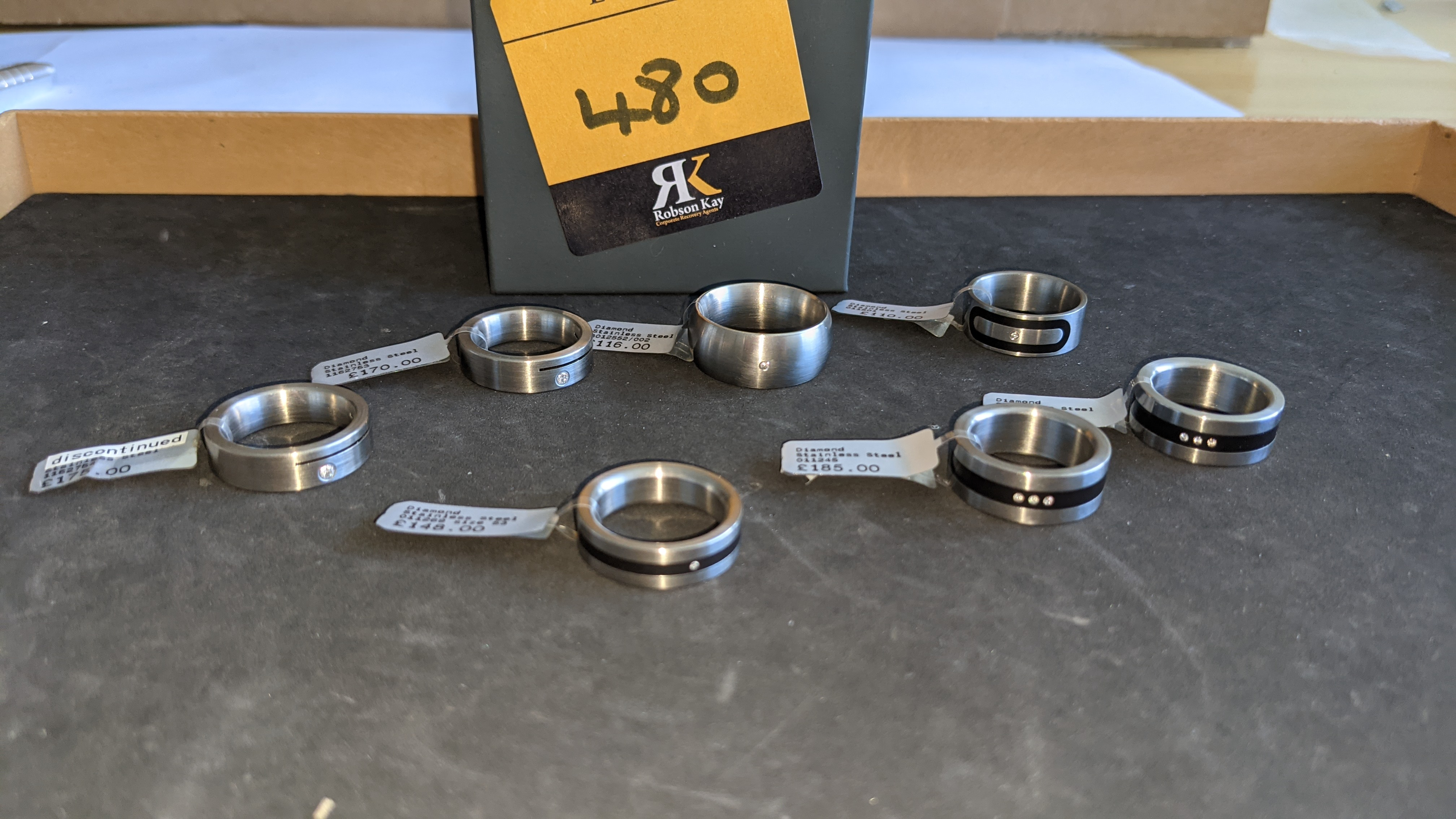7 off assorted stainless steel & diamond rings. RRPs from £110 - £185. Total RRP £1,089 - Image 3 of 12