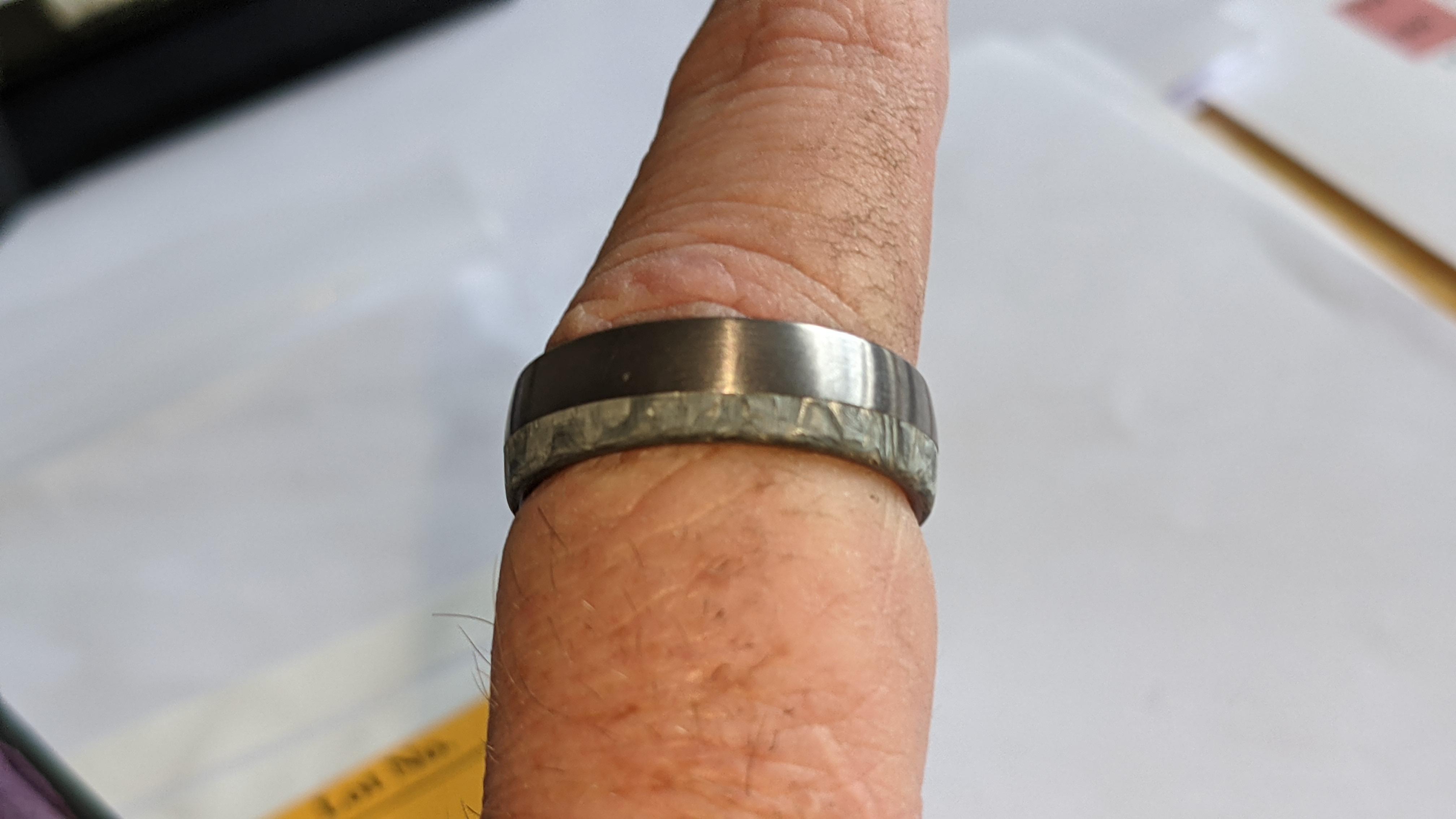 Tantalum & carbon ring RRP £600 - Image 9 of 13